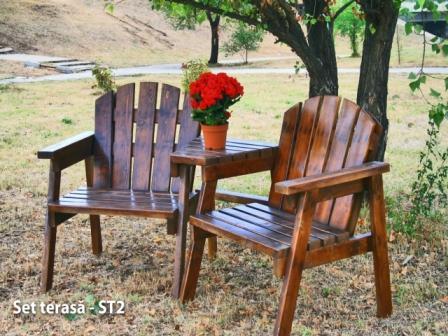 scaune din lemn pentru gradina si teresa