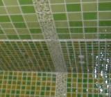 Cateva modele de bai zugravite in nuante de verde.