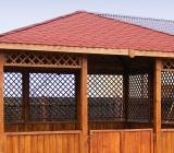 Foisoarele de gradina sunt construite in totalitate din lemn si pot avea diverse forme astfel incat sa se potriveasca in orice tip de gradina.