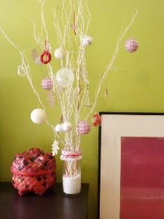 vaza decorativa model de craciun