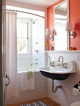 baie alba cu portocaliu aprins