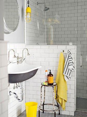baie alb cu negru si galben