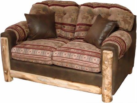 Canapea moderna cu elemente rustice