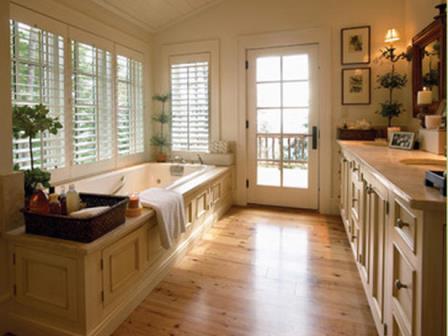 baie cu pardoseala din linoleum